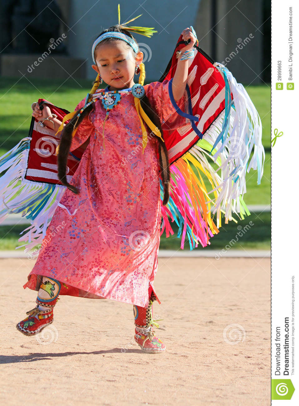 Young native american girl that
