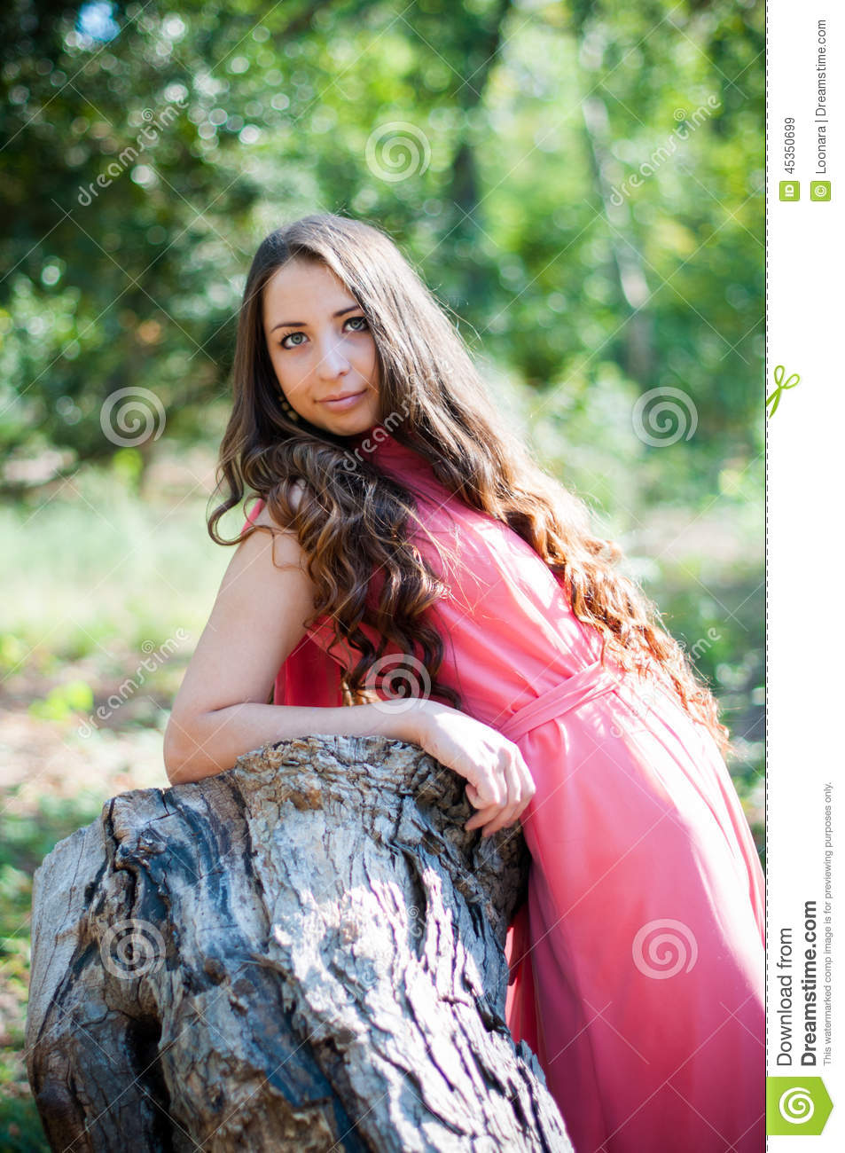 Young girl in a park