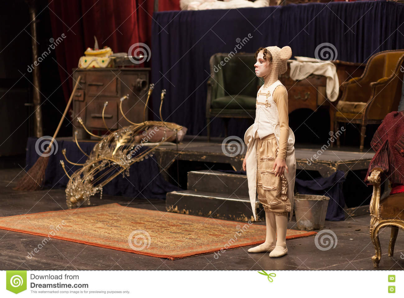 Young Actress In A Mouse Costume Royalty-Free Stock Image ...