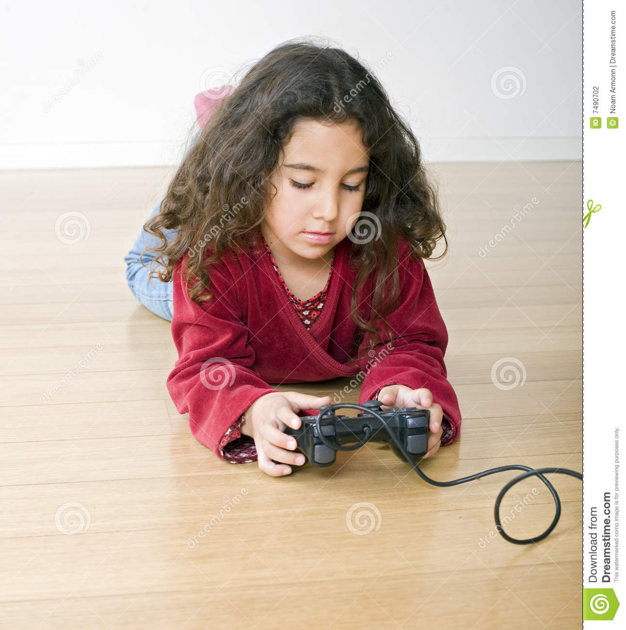 Young Girl Playstation Stock Photography Image 7490702