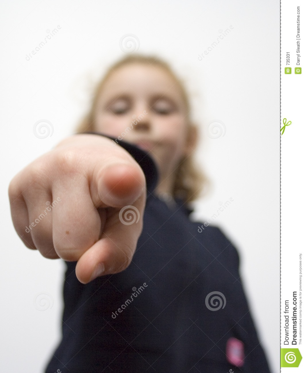 Young girl pointing 2