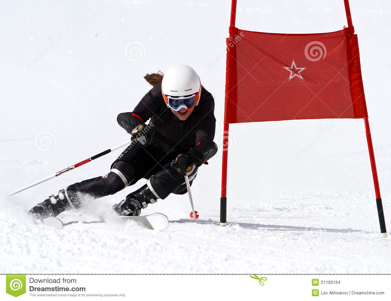 Young girl racing in Austria 3.