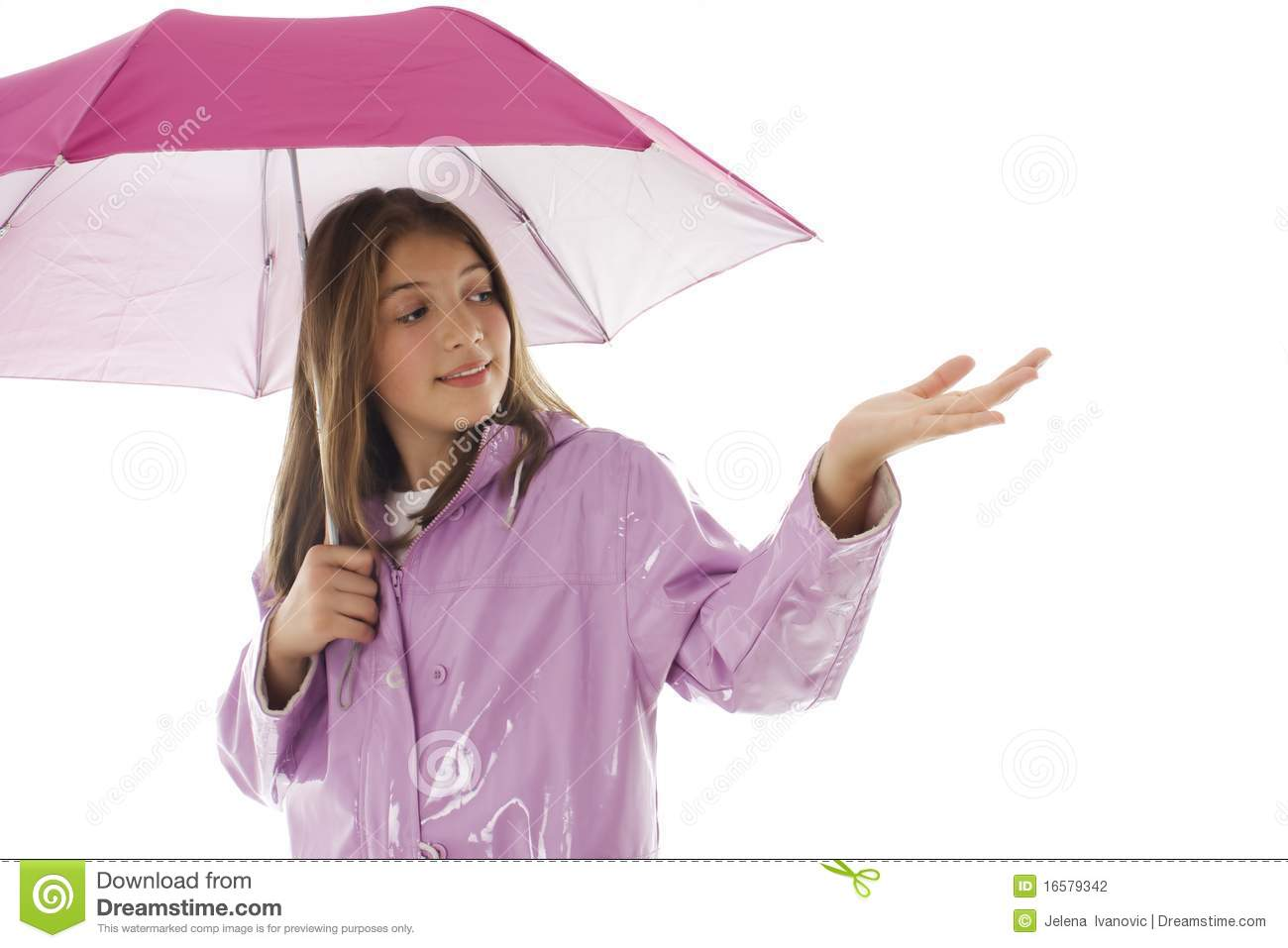 Teen With Raincoat And Drink Royalty Free Stock Image - Image: 6707776