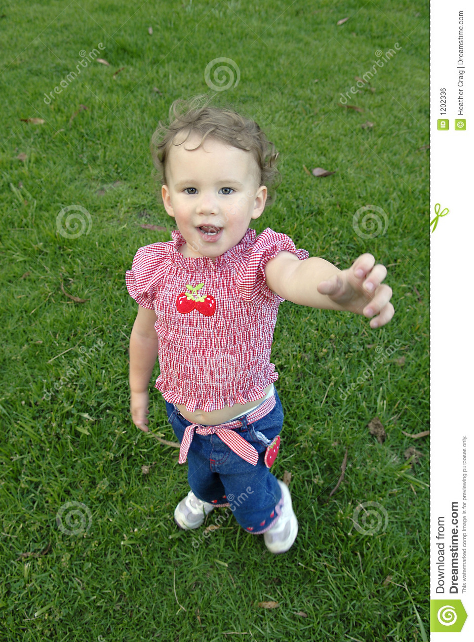 Young Girl Reaching Out