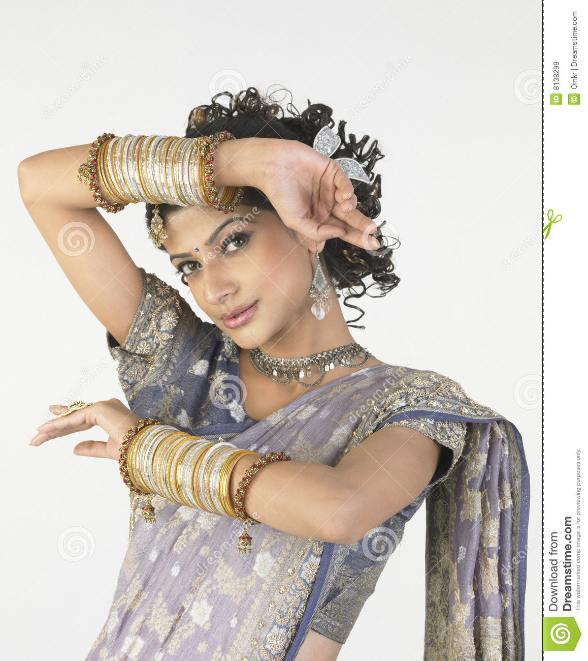 Young girl with rich bangles