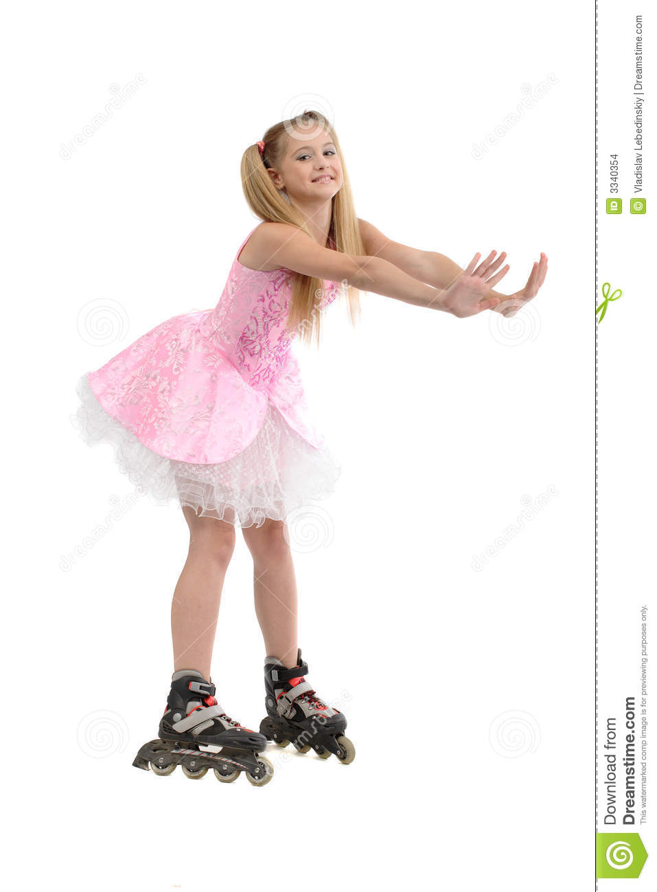 young girl on roller blades stock images image 3340354