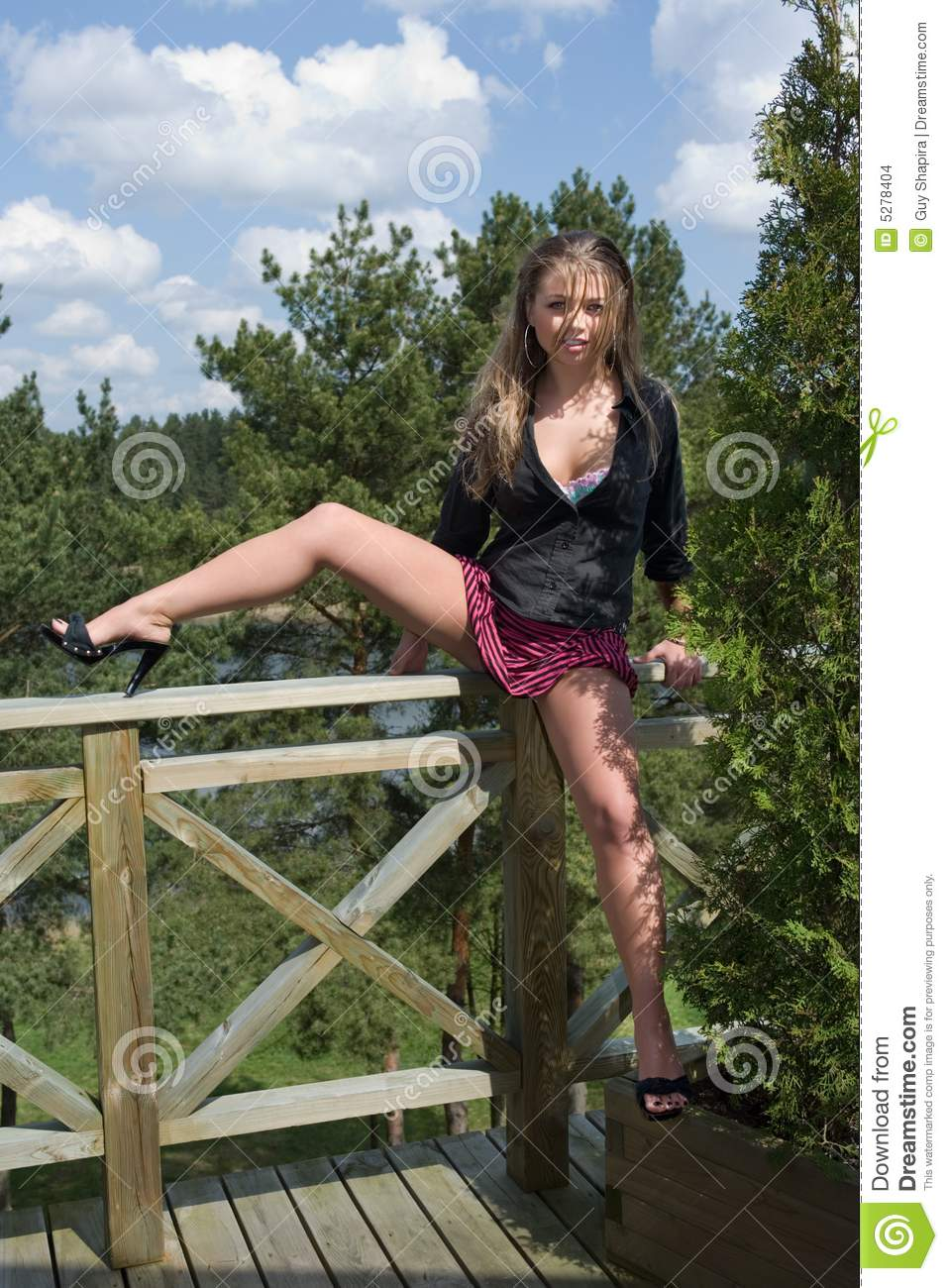 Young Girl In Short Skirt Stock Images - Image: 5278404