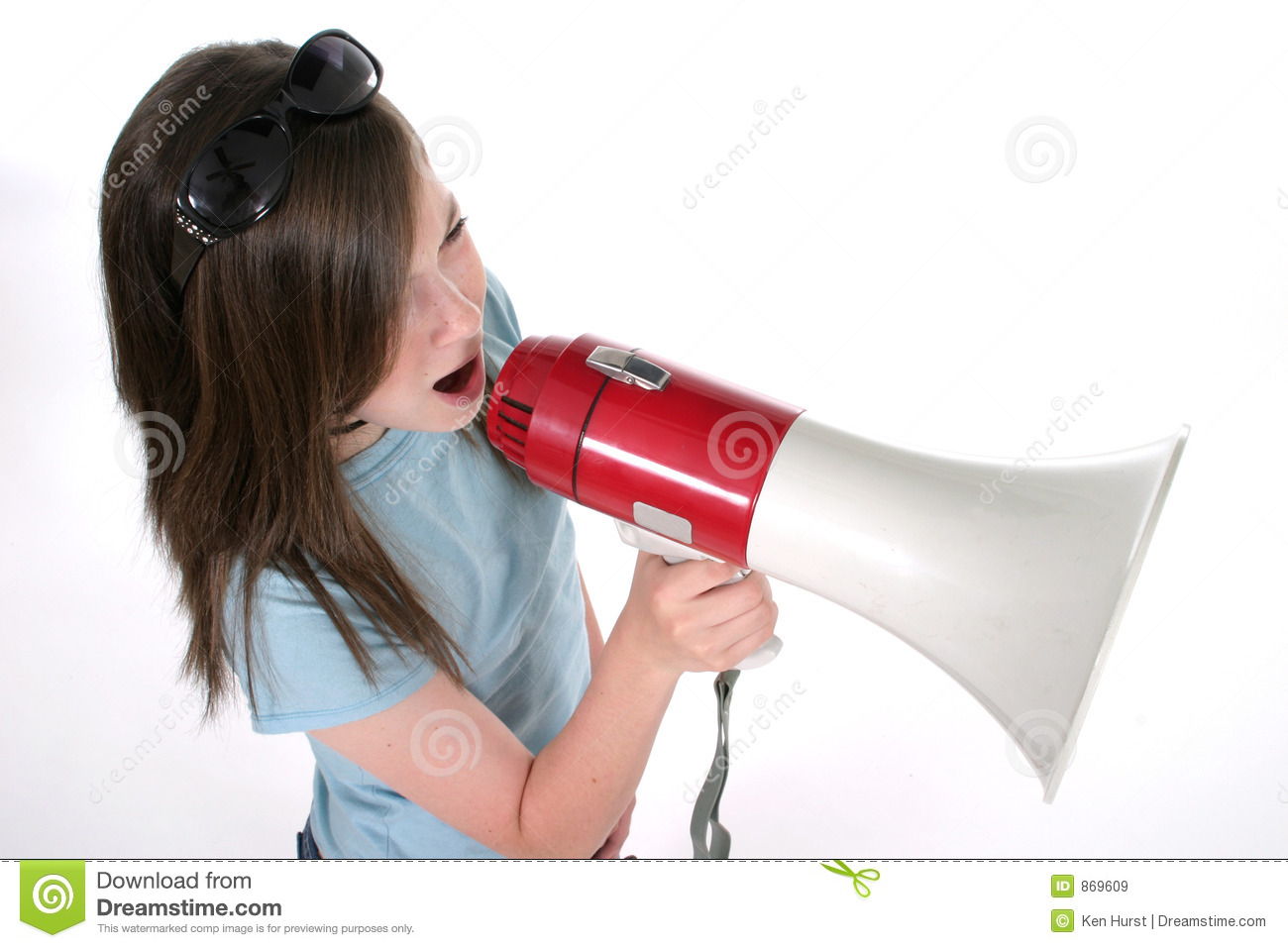 Young Girl Shouting Through Megaphone 4