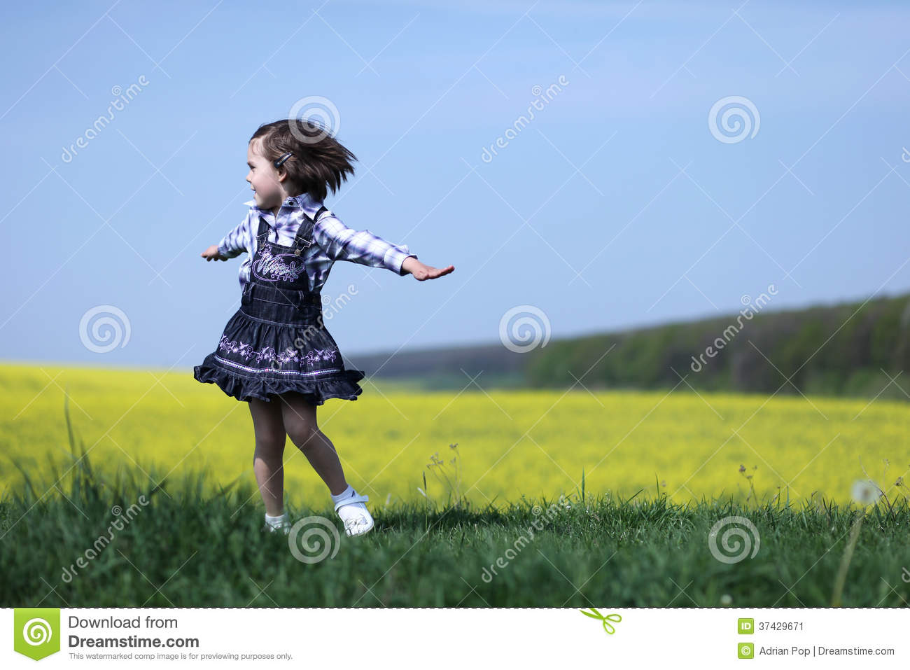 Looking For Spring Greenery On Sunny >> Young Girl Spinning Stock Image - Image: 37429671