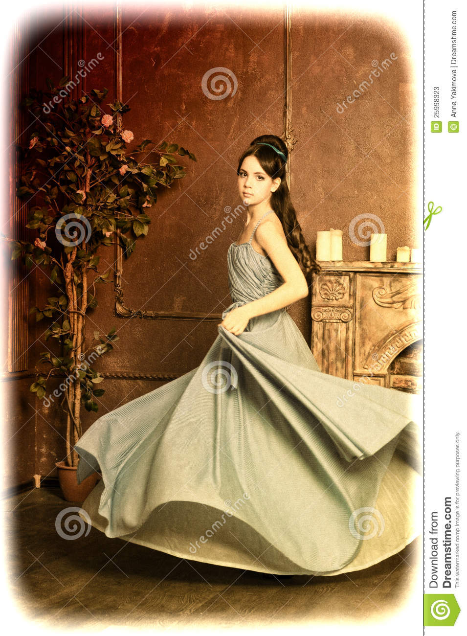 Young Girl Spinning In A Dress Stock Photos Image 25998323