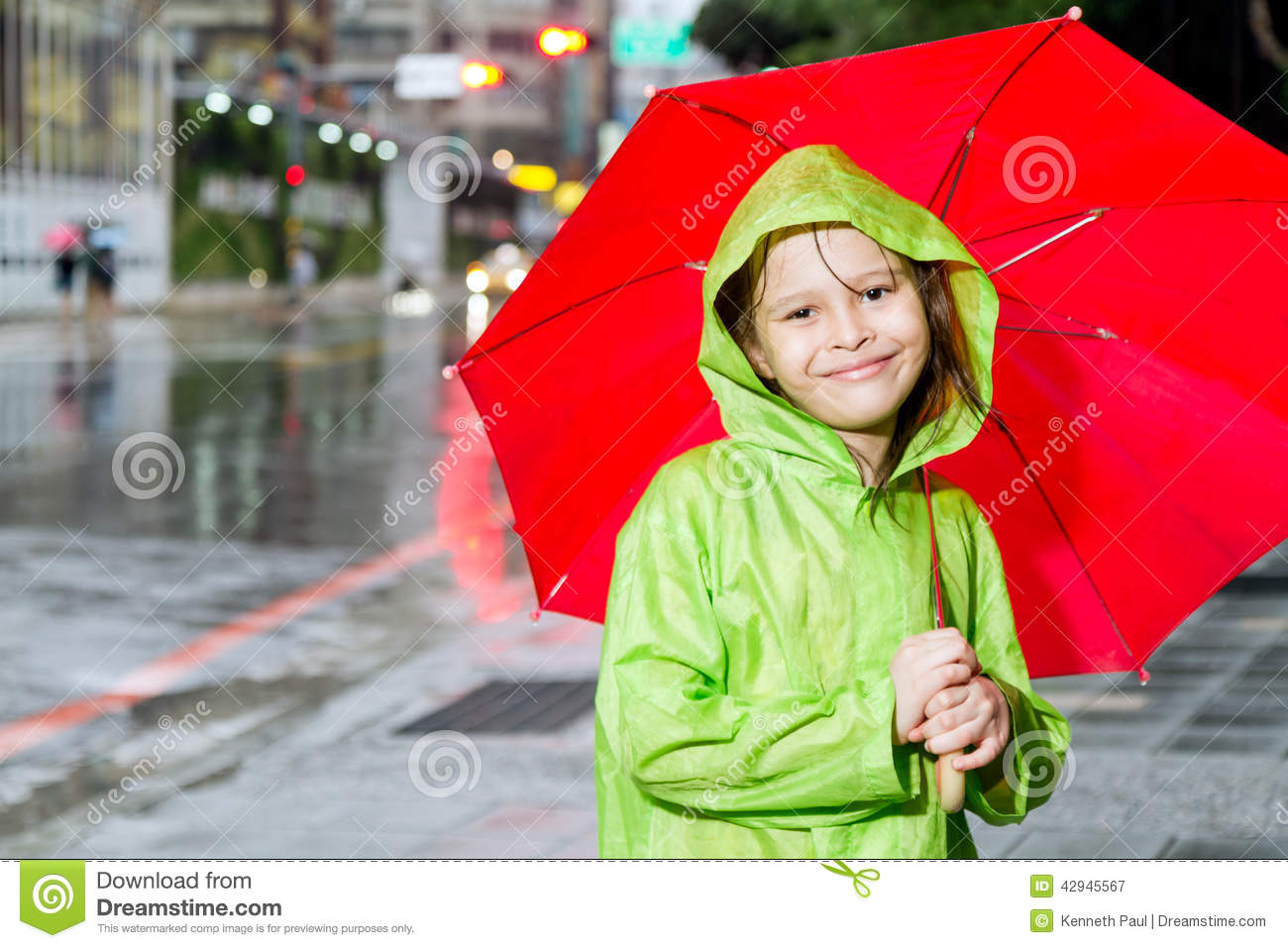 Question What young girls raincoats consider, that