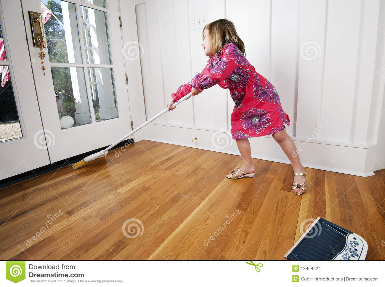 Young Girl Sweeping cleaning Stock Images Image 18464924