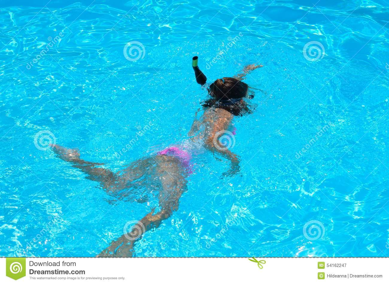 Young girl swimming in a pool stock image image of sport - Waterford crystal swimming pool times ...