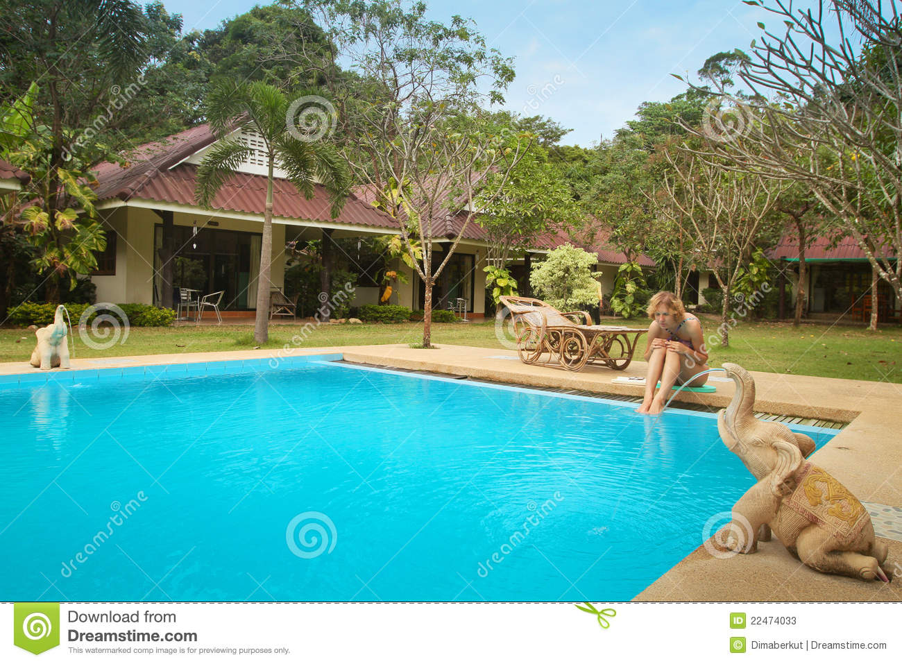 Young Girl In Swimming Pool In Spa Resort Stock Photos Image 22474033