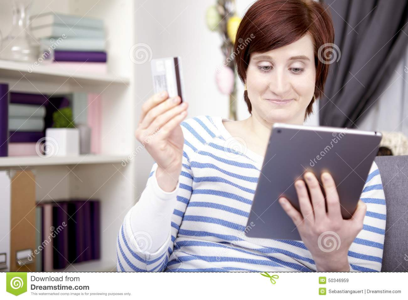 Young girl with tablet computer stock photo image 50346959 royalty free stock photo download young girl negle Images