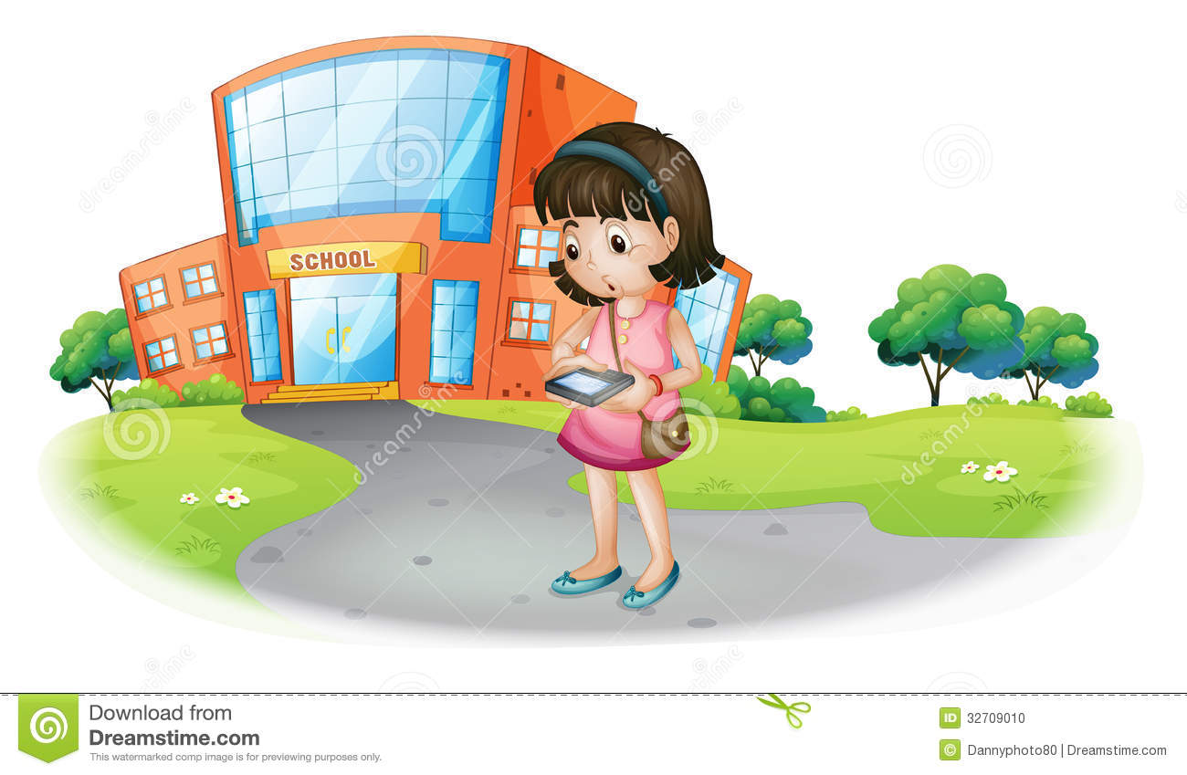 girl texting clipart - photo #30