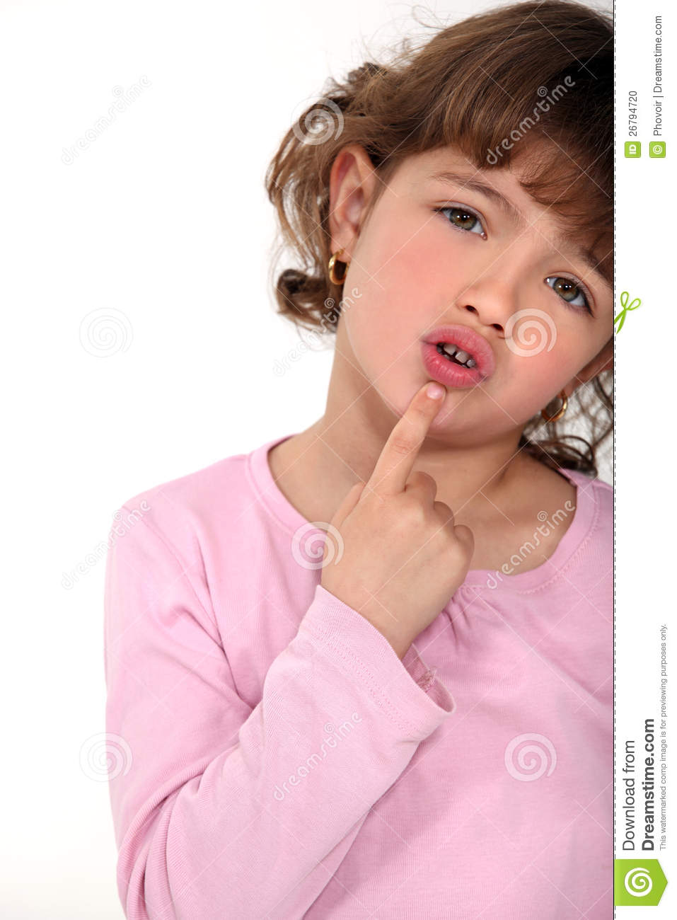Young Girl Touching Her Chin Stock Photo - Image: 26794720