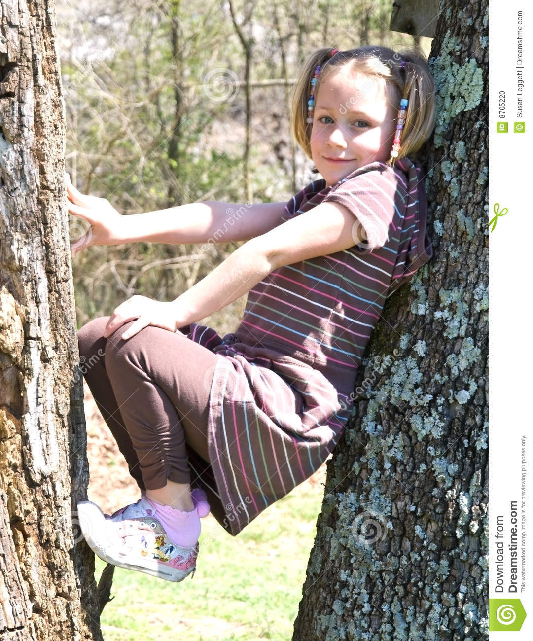 Young Girl in a Tree