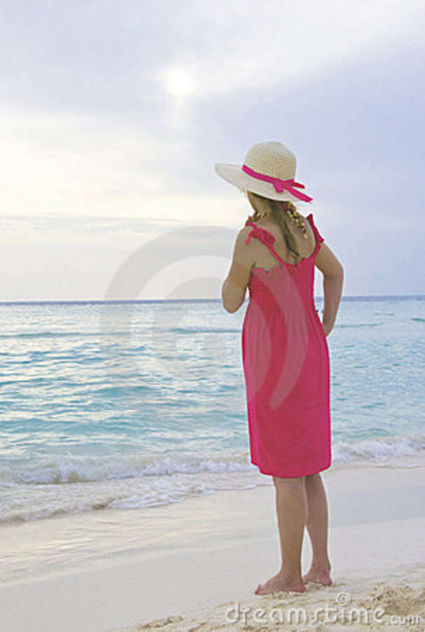 Young Girl Walking On The Beach Stock Photography - Image ...