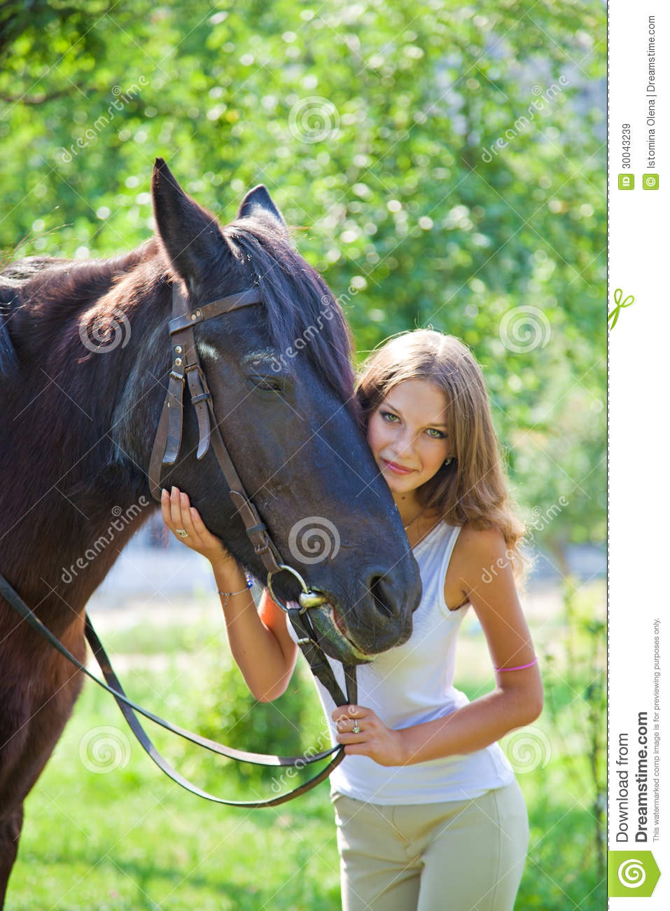 Young Girl With A Horse  Royalty Free Stock Images