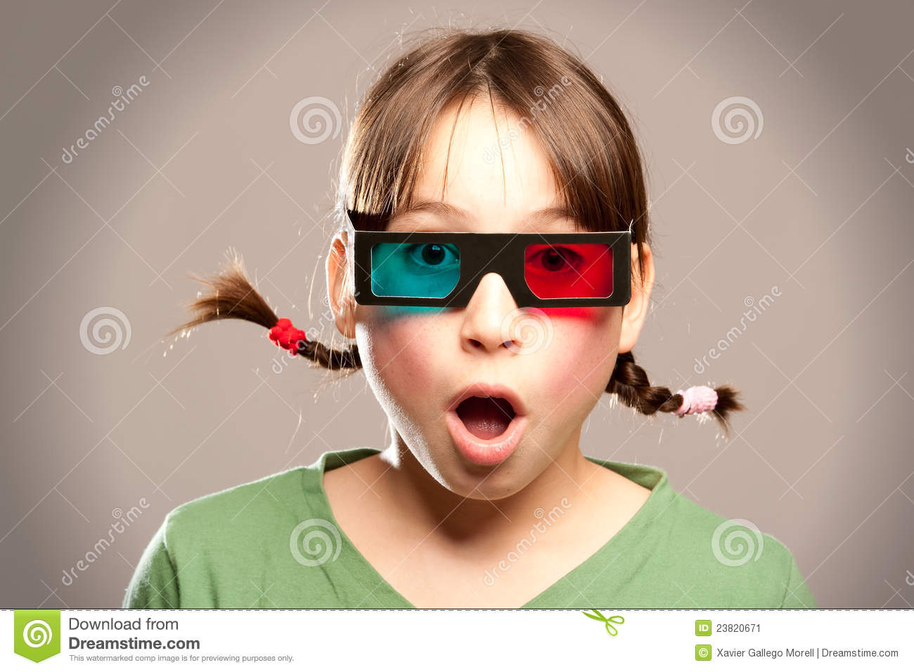 Young Girl Wearing 3d Glasses Stock Image - Image: 23820671