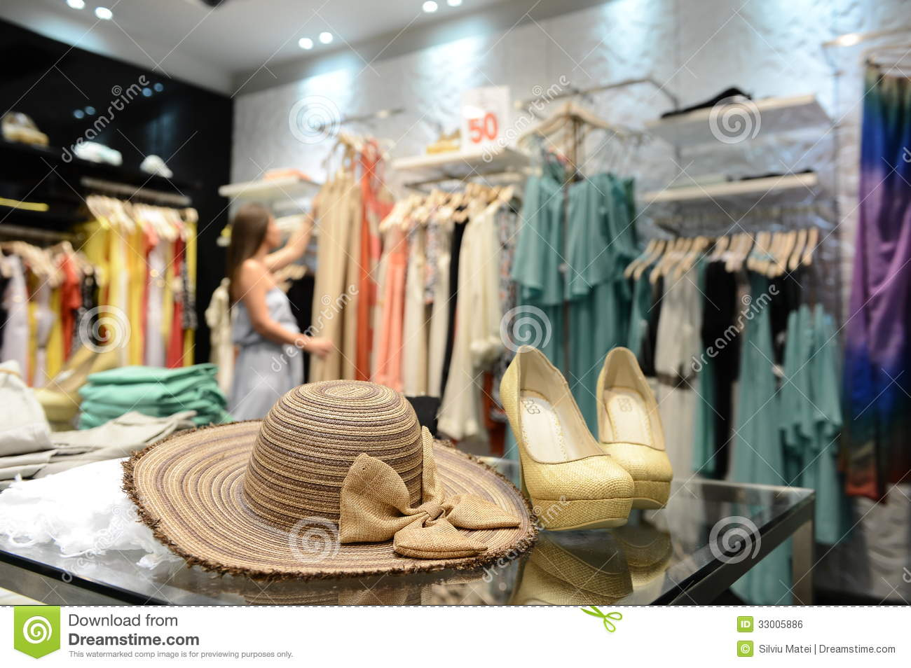 Young Girl In A Women Clothing Store Editorial Photo - Image: 33005886