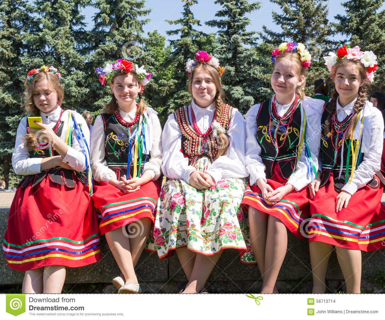 women and girl in russian traditional clothing stock image image young girls in traditional russian costume stock images