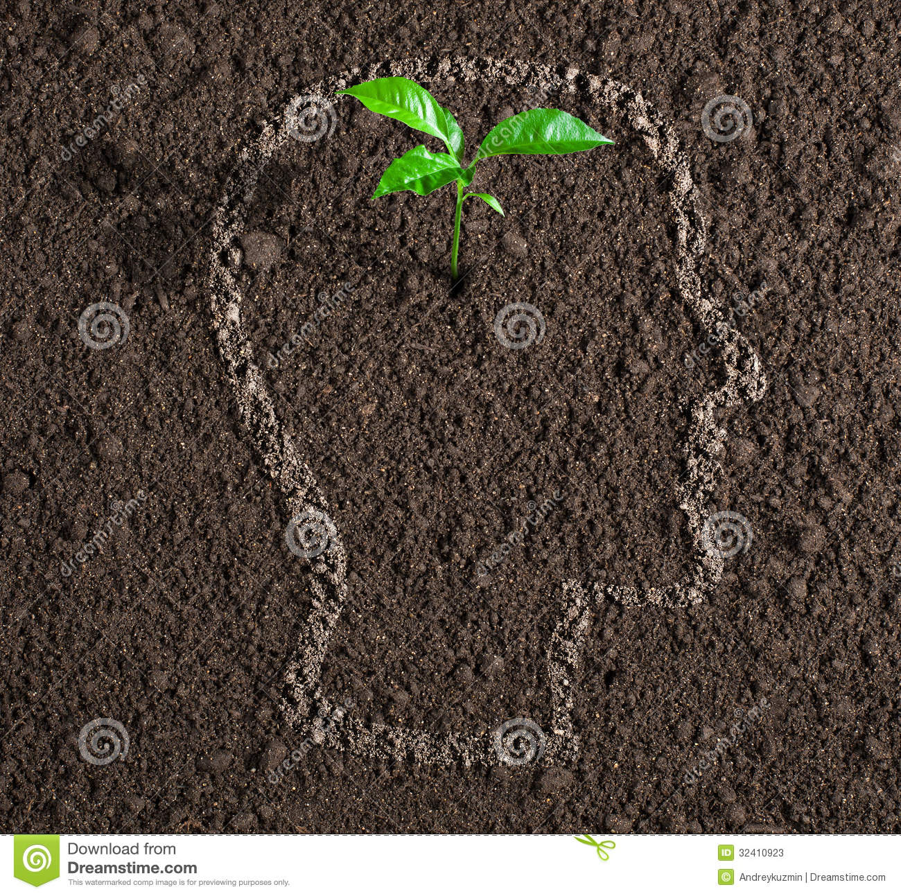 Young growth of idea inside of human head on soil concept for Soil young s modulus