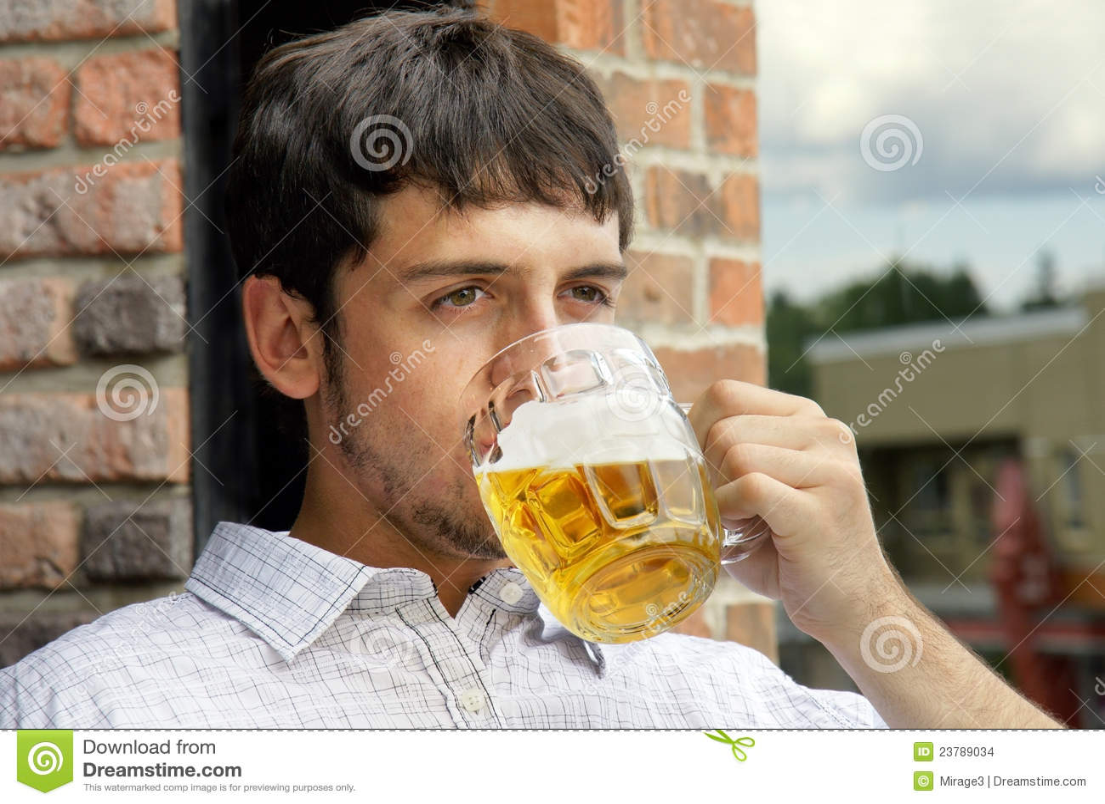 Guy Drinking Beer Sad
