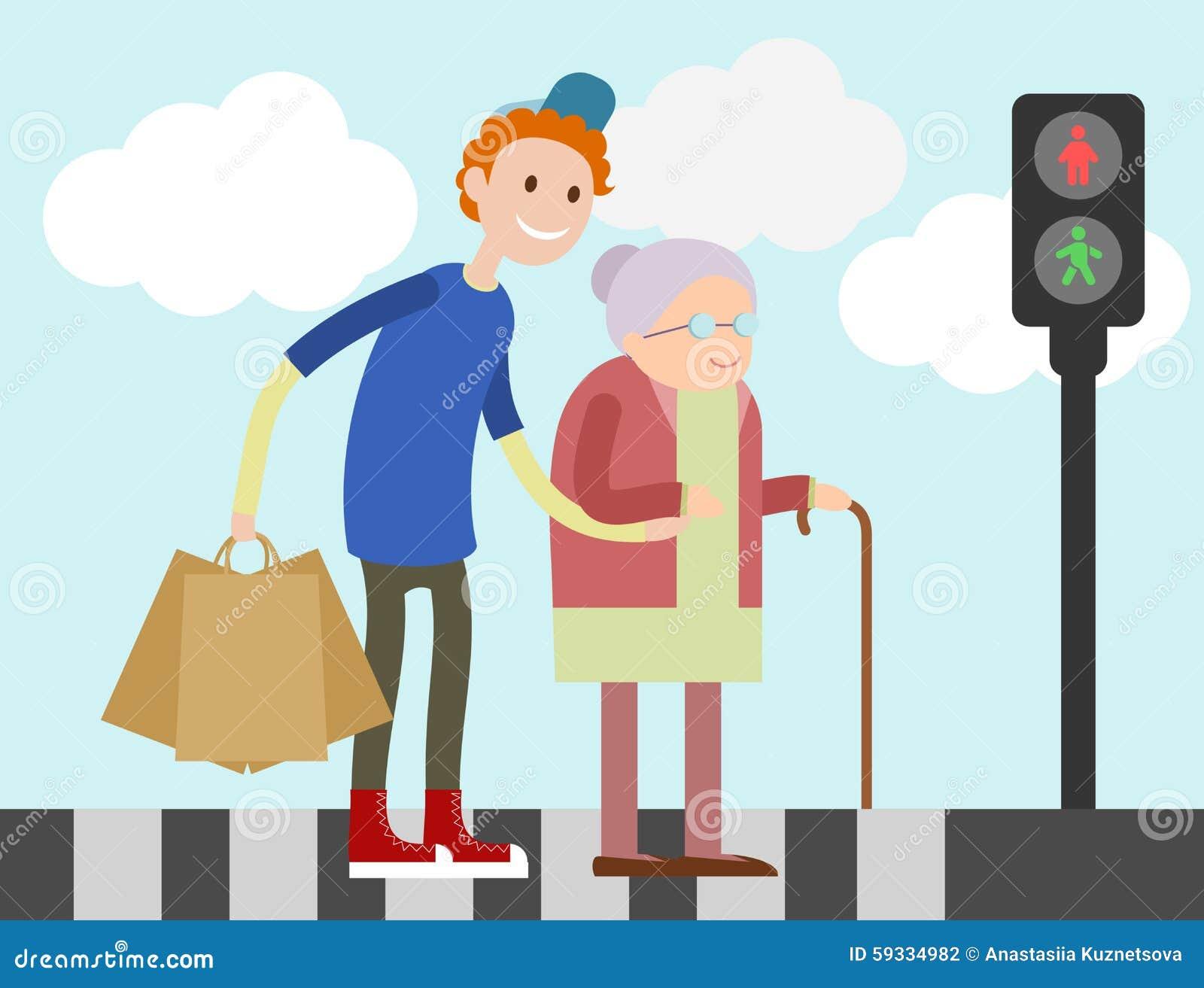 young guy helps old woman to cross road stock illustration zebra print vector free zebra print vector art