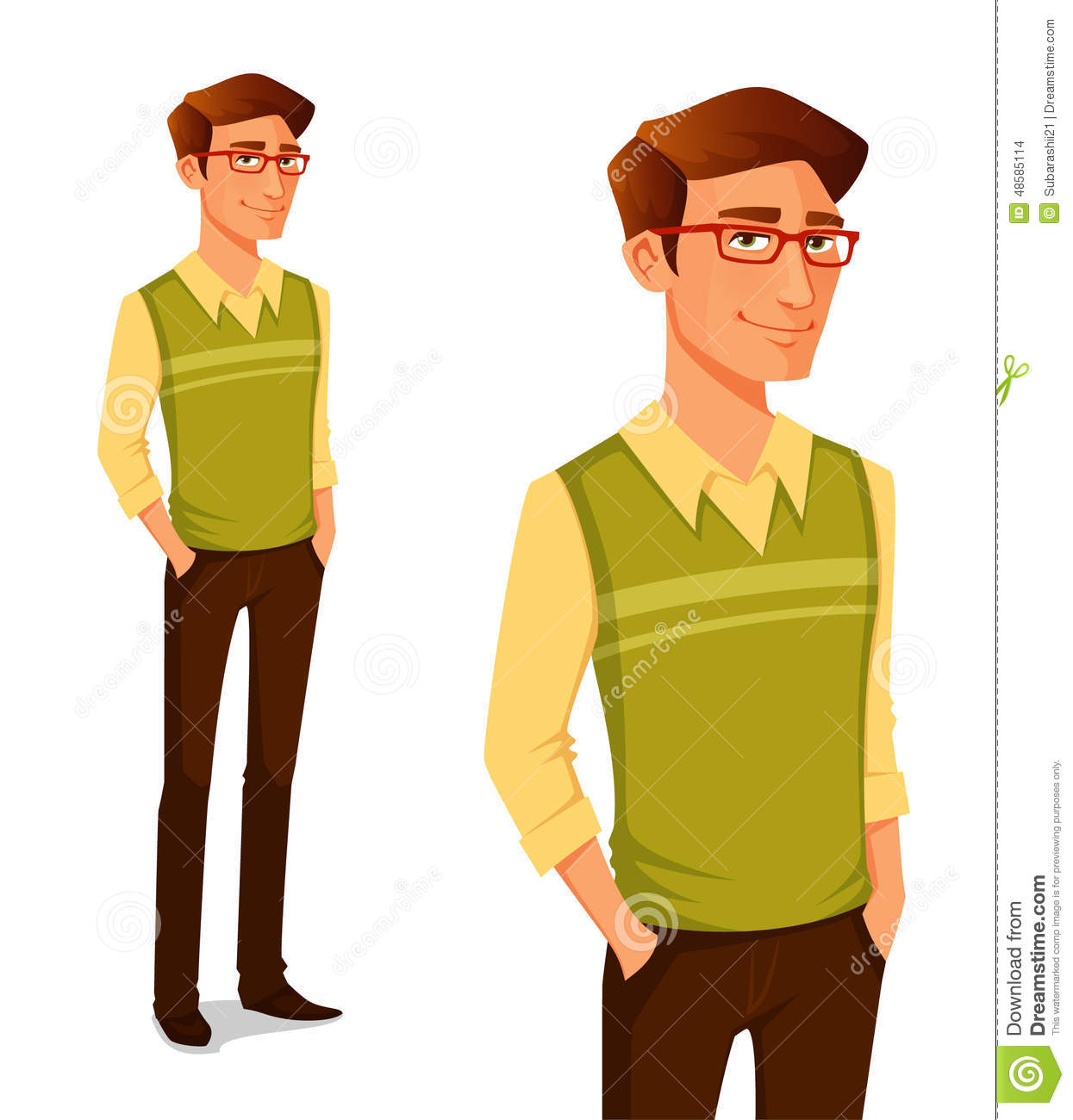 young guy in hipster fashion stock vector image 48585114