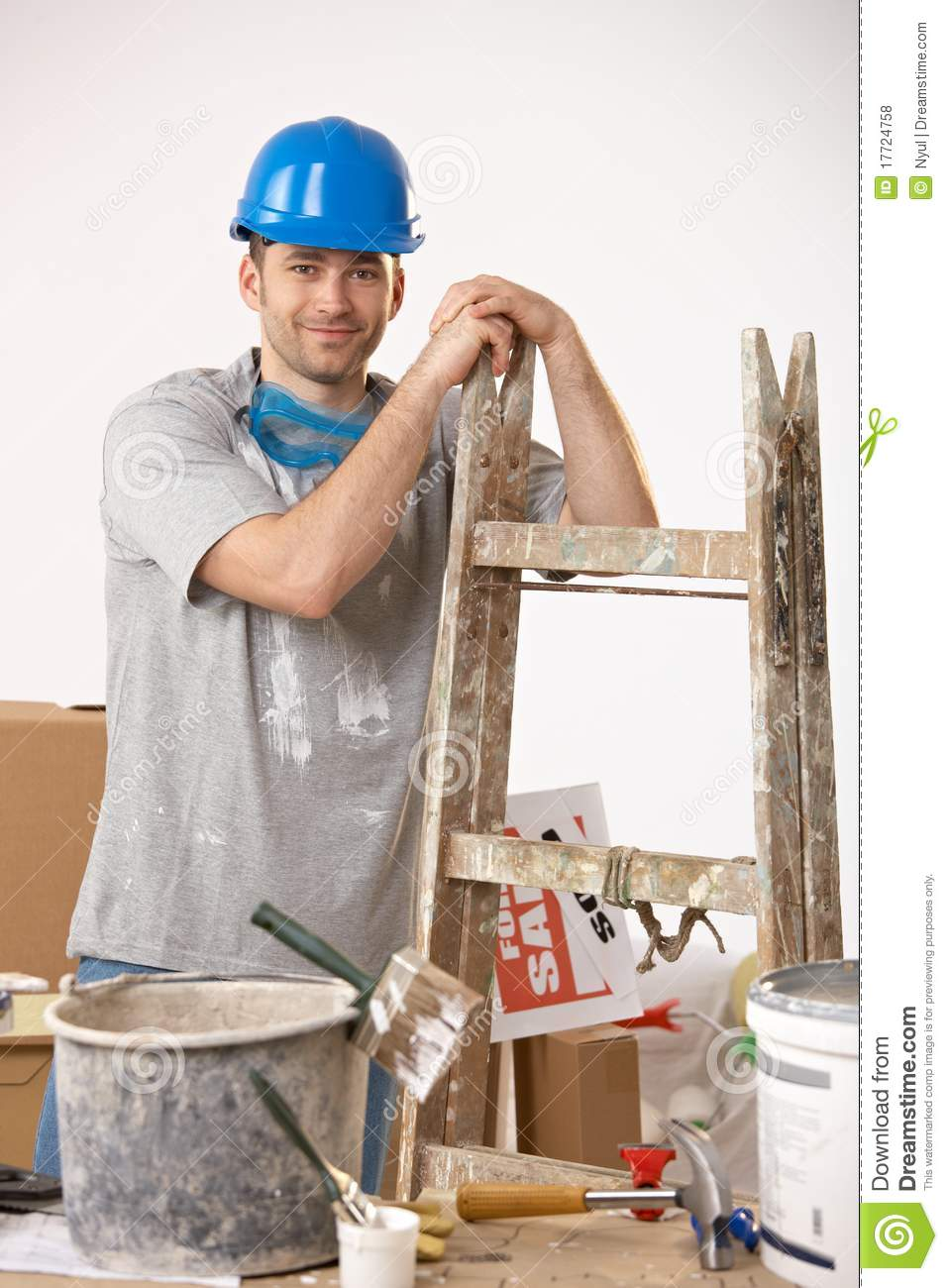 young guy painting house royalty free stock photos image 17724758