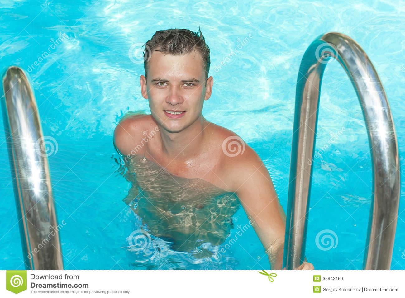 Young guy in the pool stock photo image 32943160 for Pool guy show