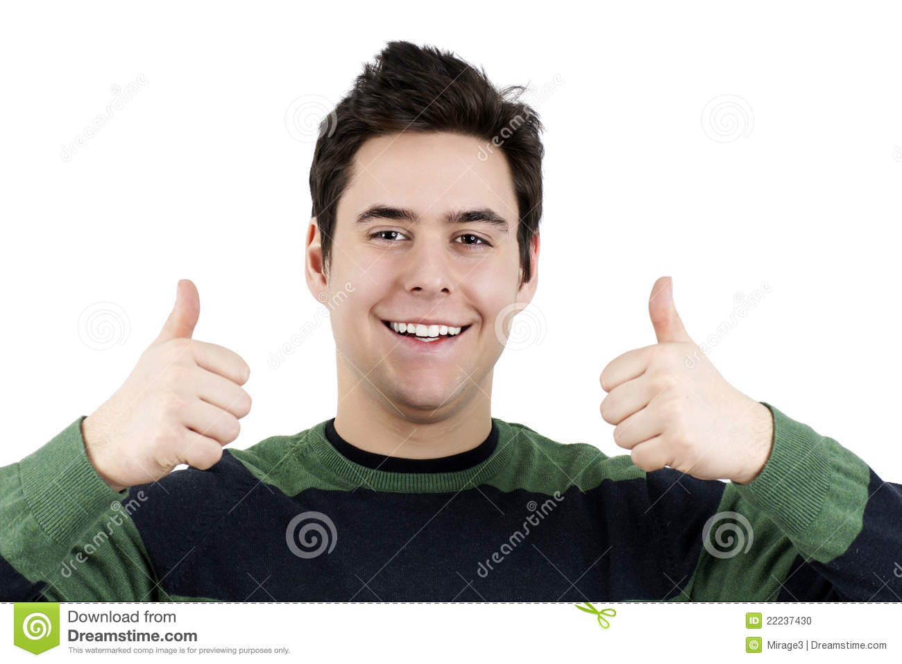 Young Guy With Two Thumbs Up Stock Photo - Image: 22237430