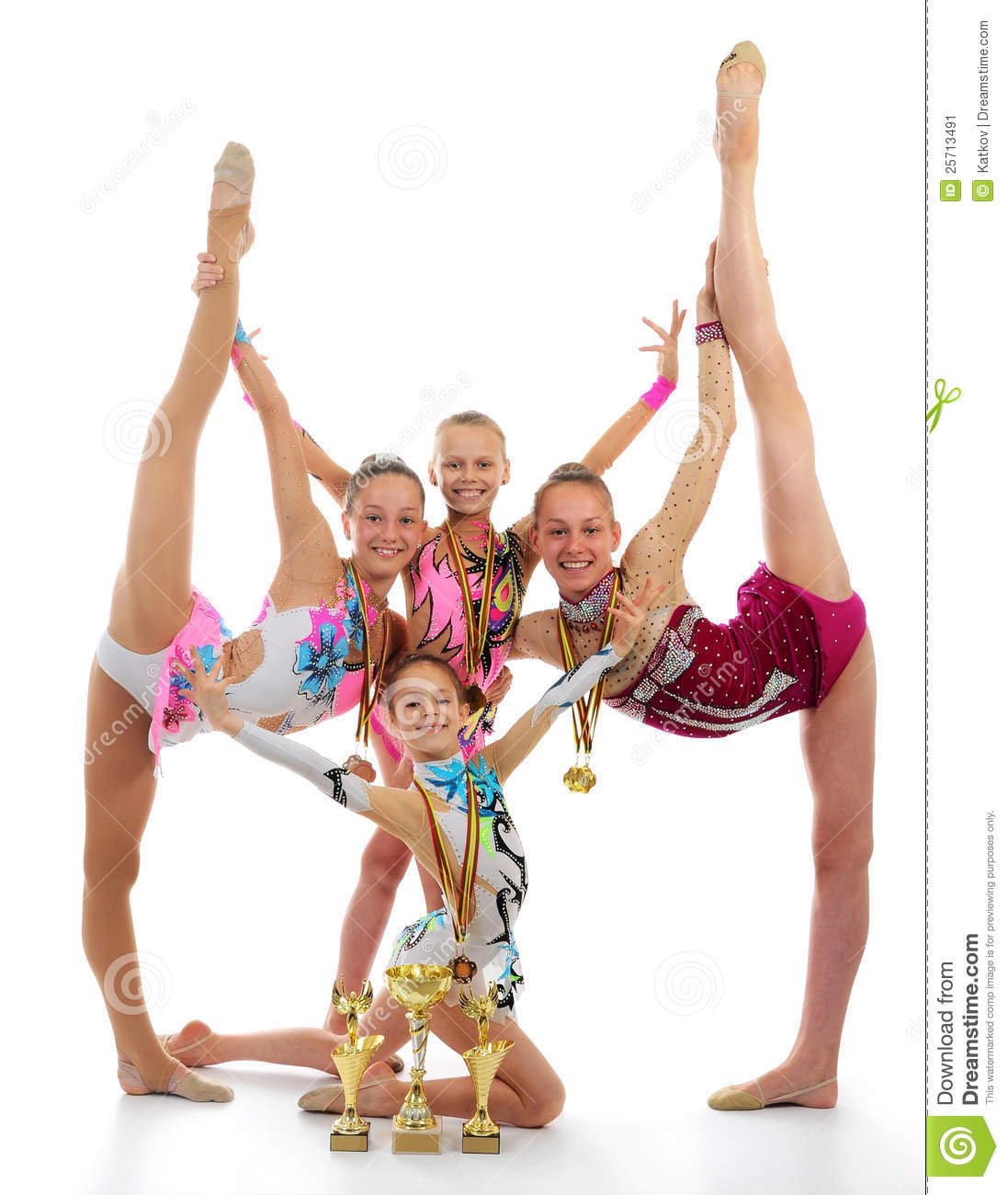 Young Gymnasts Stock Image - Image: 25713491