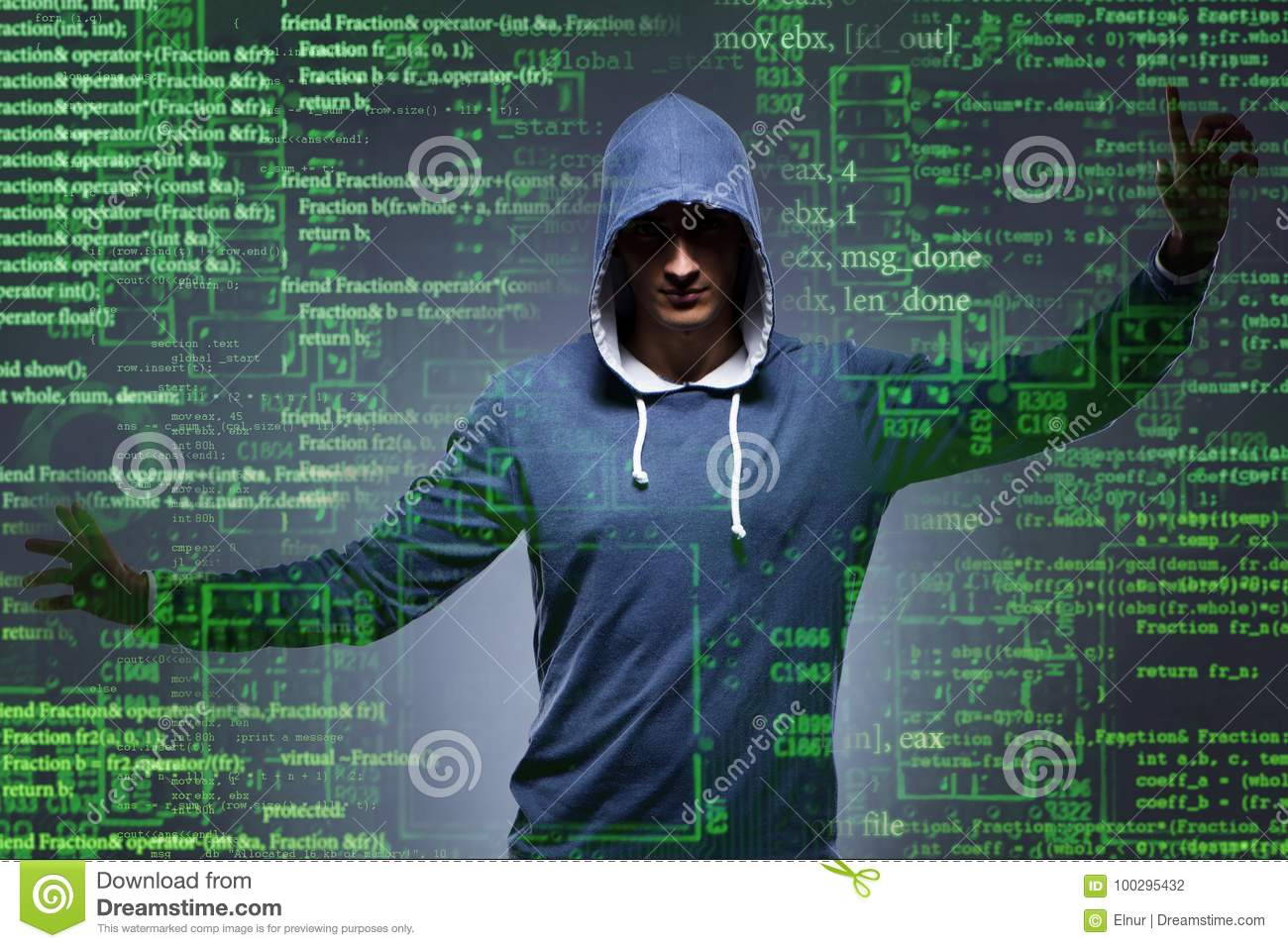 The Young Hacker In Cyber Security Concept Stock Photo