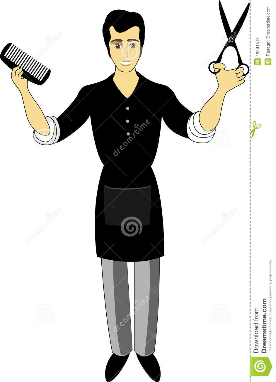 Young Hairdresser Man Royalty Free Stock Image - Image ...