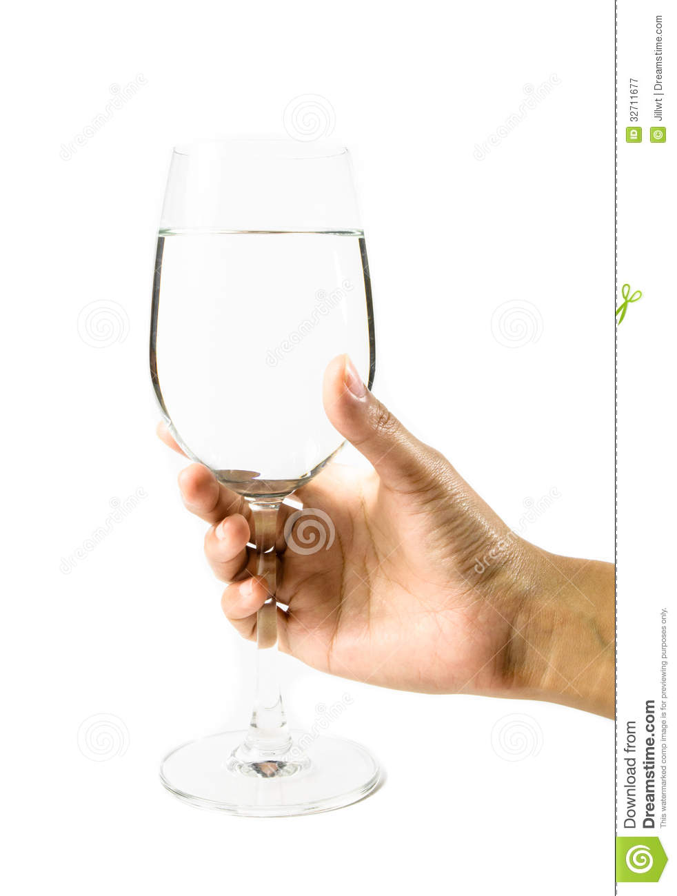 Young Hand Girl Hold Wine Glass Royalty Free Stock