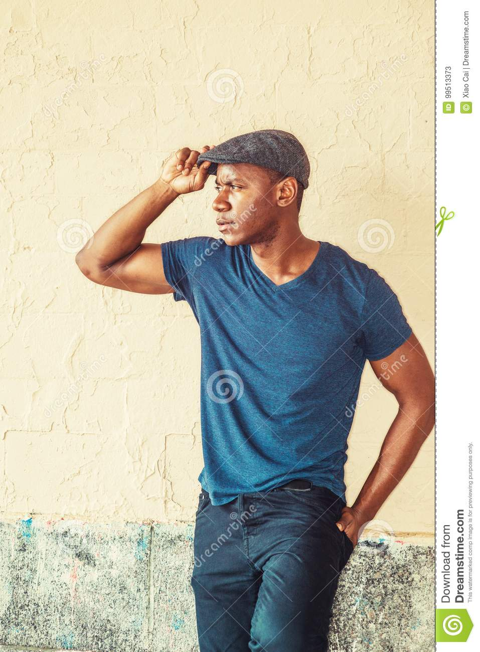 Young Handsome African American Man Stock Image - Image of dark ... 6d8a150208d