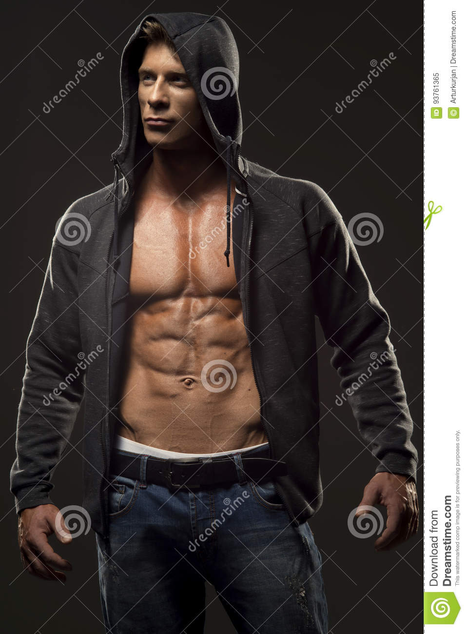 sexy young muscle man nude