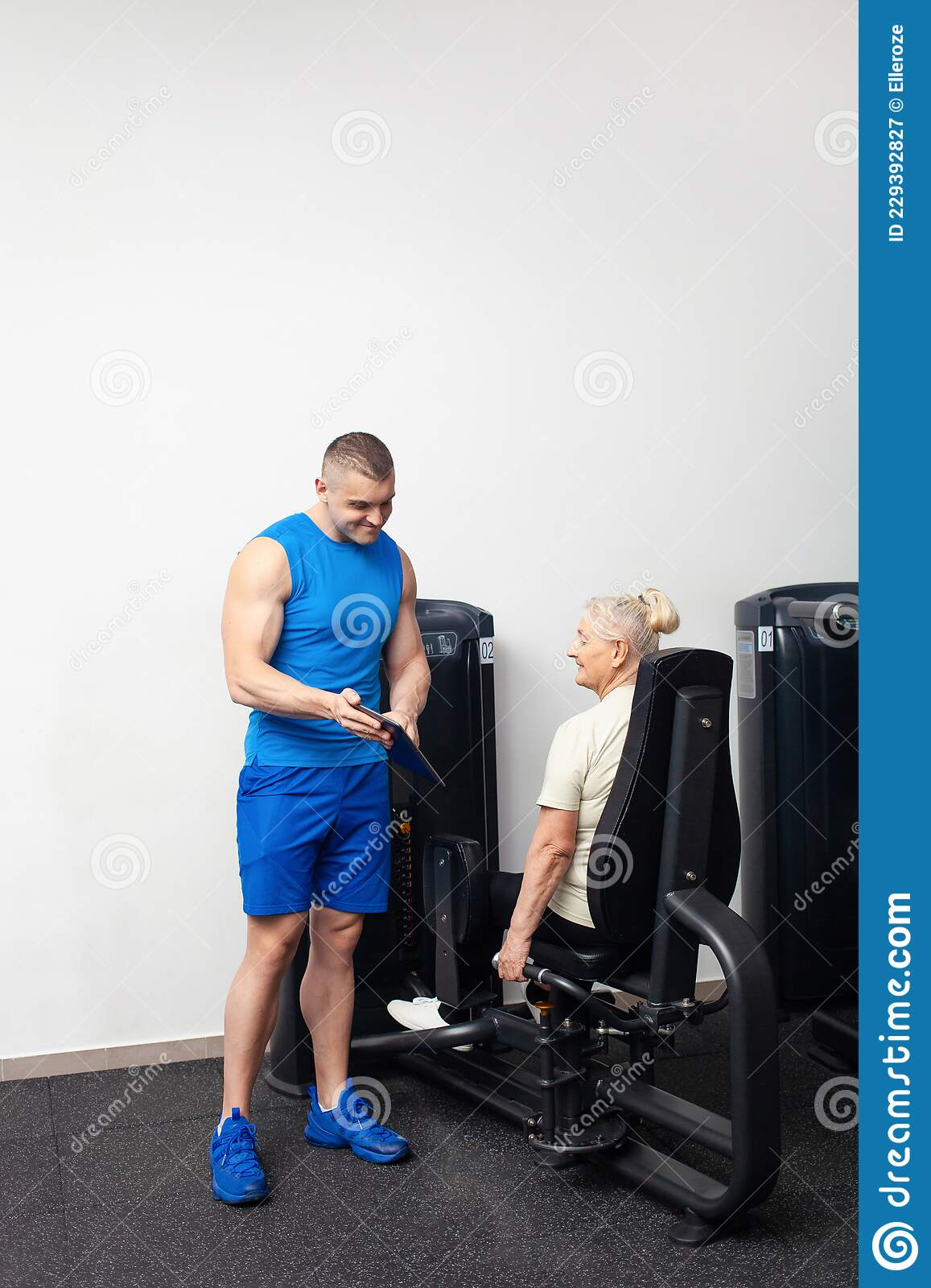 A Young Handsome Coach Man Shows The Older Woman How To