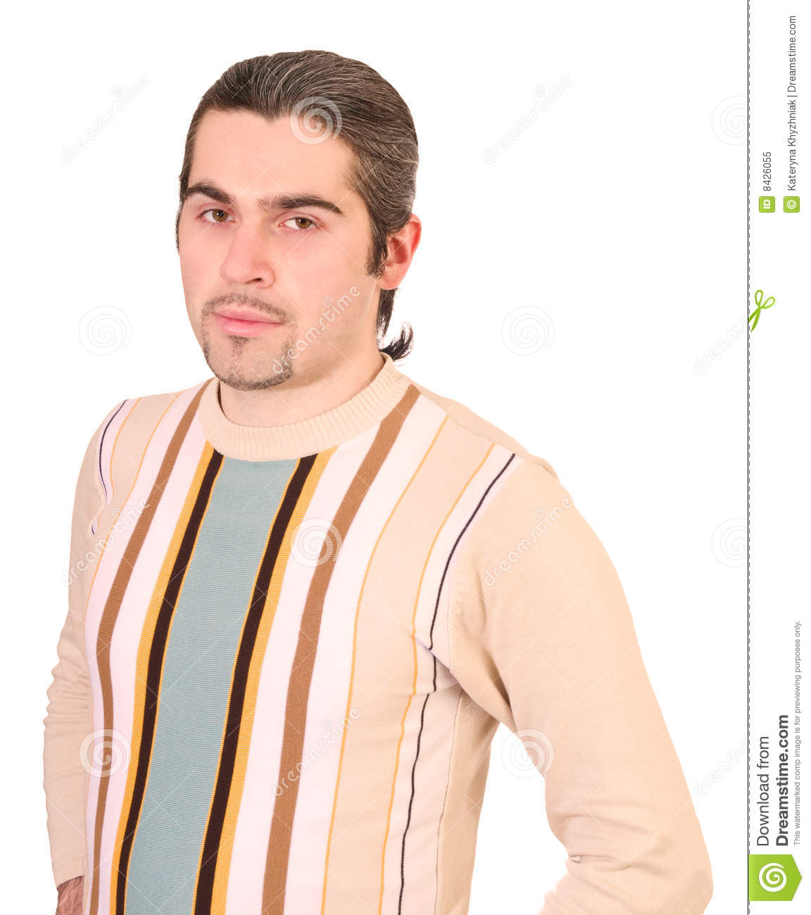 Young handsome male in sweater isolated