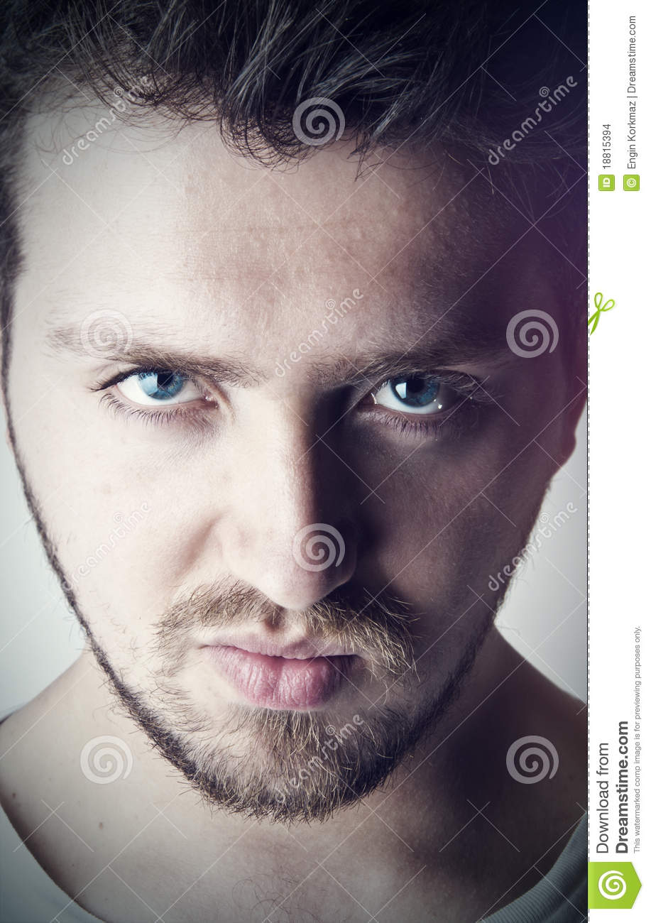 Young Handsome Man With Blue Eyes Stock Images Image