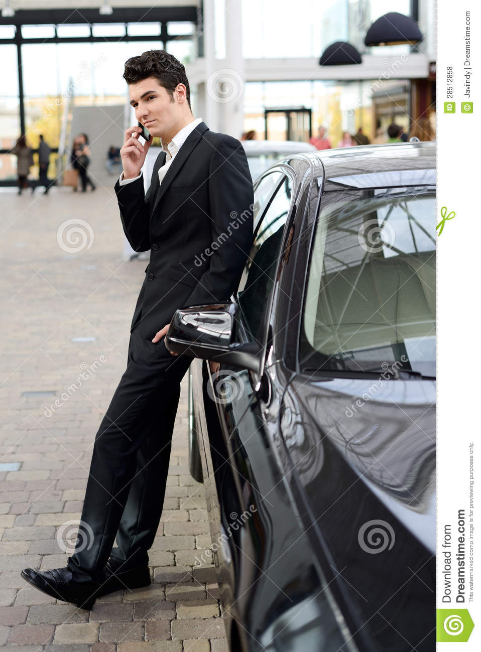 Young Handsome Man, Model Of Fashion, With Luxury Cars ...