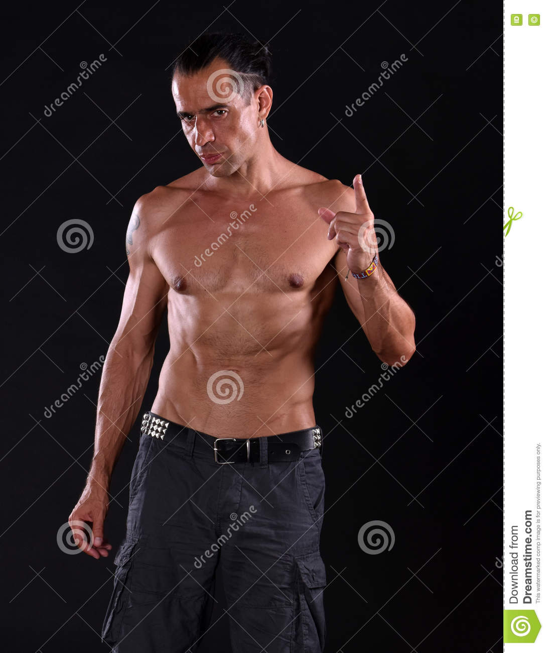 Young Handsome Man With Naked Torso Stock Photo - Image of