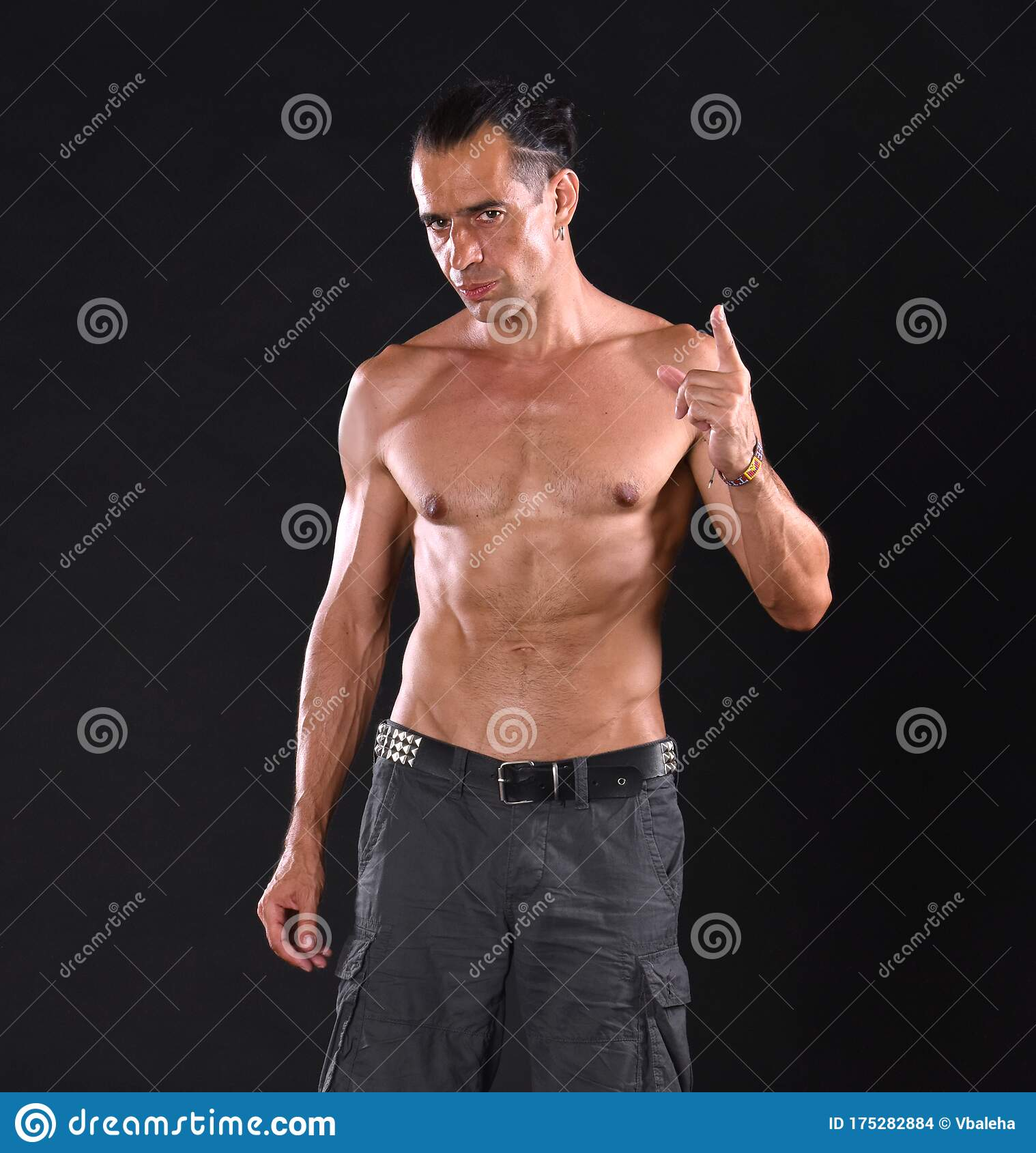 Young Handsome Man With Naked Torso Stock Photo - Image