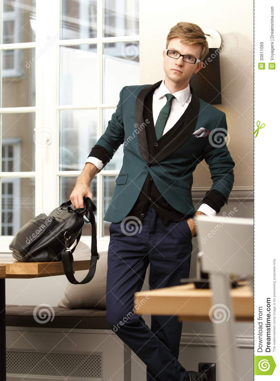 Young Handsome Stylish Man In Trendy Cafe Royalty Free Stock ...