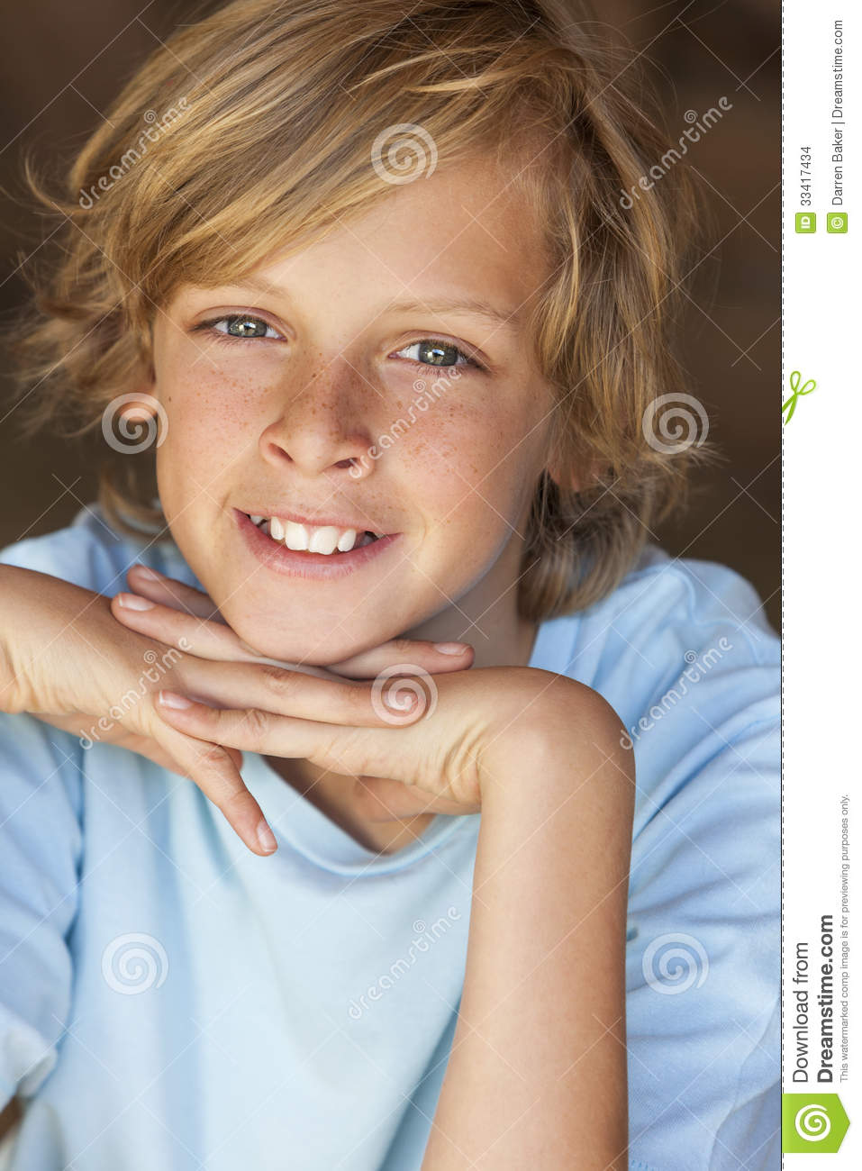 Young Happy Blond Boy Child Smiling Stock Images - Image: 33417434