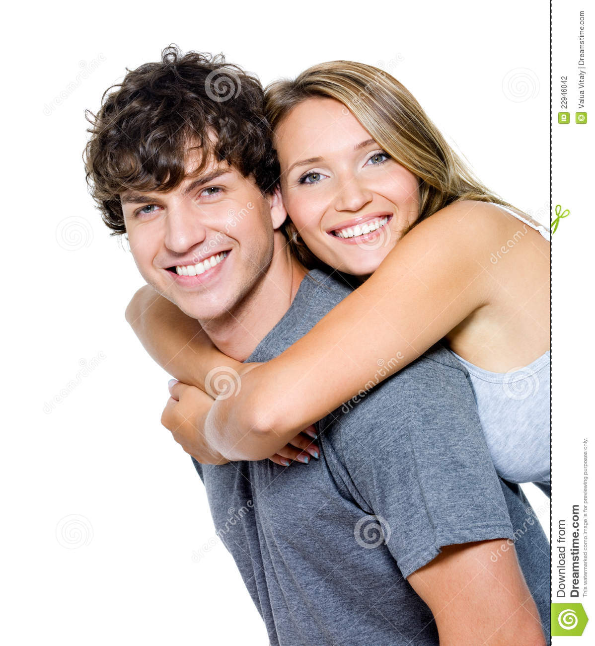Young Happy Couple Stock Photography