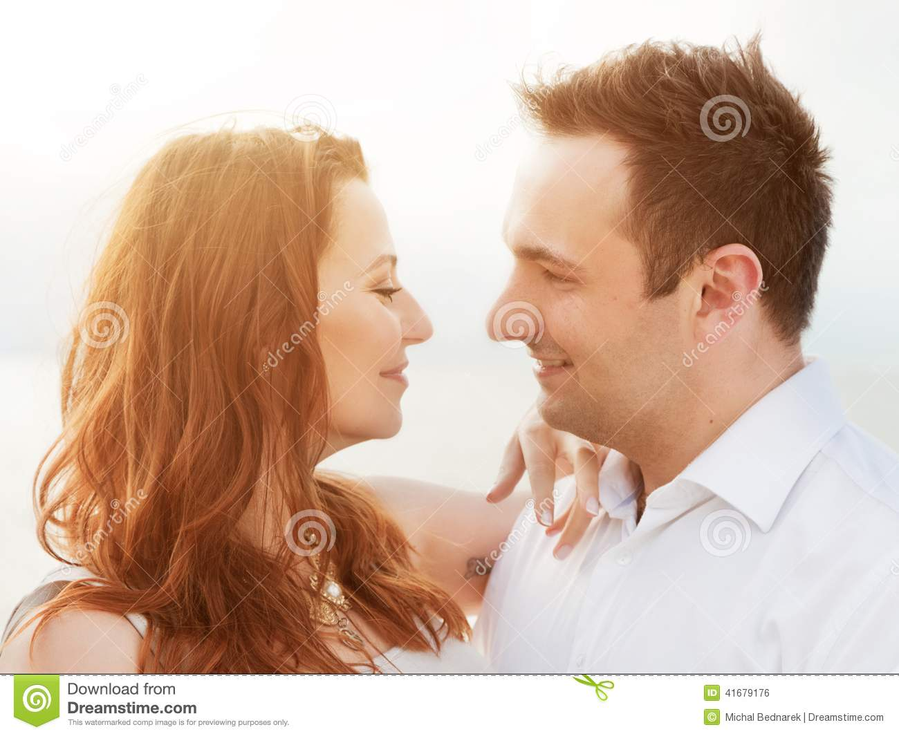 Young happy couple in love. Romantic moment